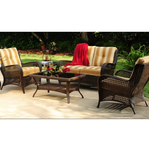 Agio Amherst Tan/ Brown 4-Piece Outdoor Dining Set