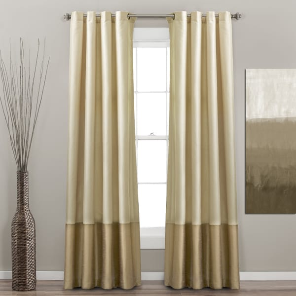 Lush Decor Prima Ivory/ Taupe Curtain Panel Pair