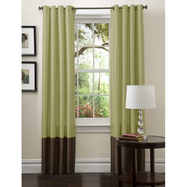 Lush Decor Prima Green/ Chocolate Curtain Panels (Set of 2)
