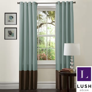 Lush Decor Prima Sea Green/Chocolate Curtain Panels (Set of 2)