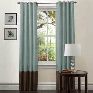 Lush Decor Prima Sea Green/Chocolate Curtain Panels (Set of 2)