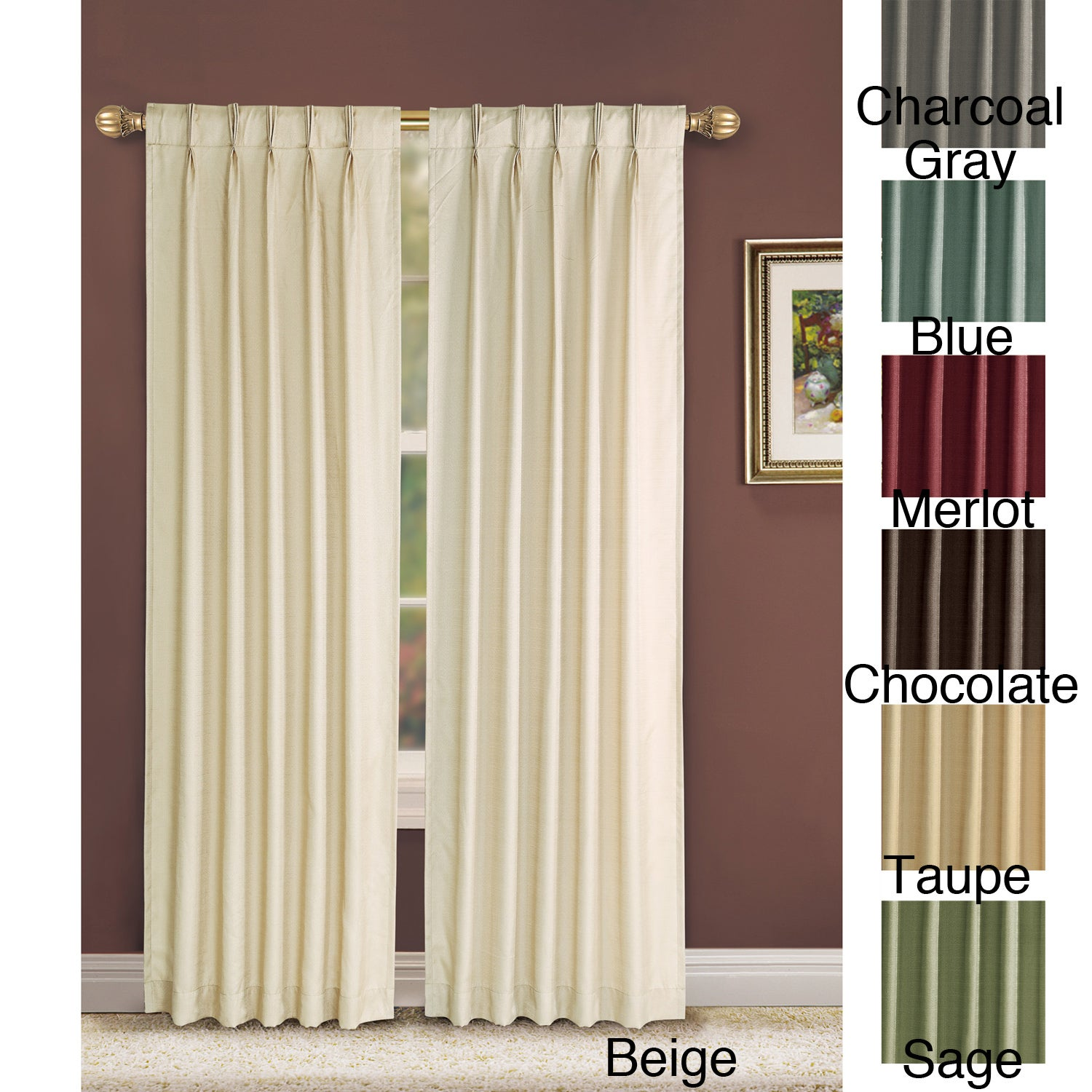 Victoria Classics Manchester Pinch Pleat 84 inch Curtain Panel