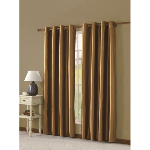 Victoria Classics Taffeta Grommet 84 inch Curtain Panel With Lining