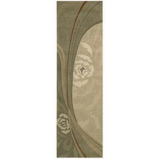 Nourison Hand-tufted Dimensions Bisque Rug (2'3' x 8')