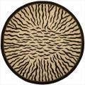 Hand-tufted Dimensions Animal Print Ivory Wool Rug (5&#39;9 Round)