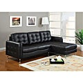 Amanda Black Bonded Leather Set