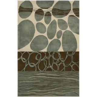 Nourison Hand-tufted Dimensions Multicolor Rug (5'x 8')