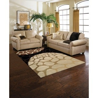 Nourison Hand-tufted Dimensions Multi Rug (5'x 8')