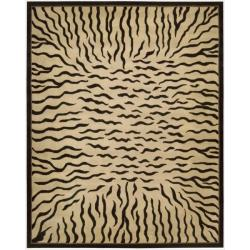 Nourison Hand-tufted Dimensions Ivory Rug (8' x 11')