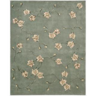 Nourison Hand-tufted Julian Blue Rug (5'3 x 8'3)