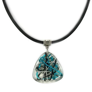 Jewelry by Dawn Triangle Resin Greek Leather Necklace