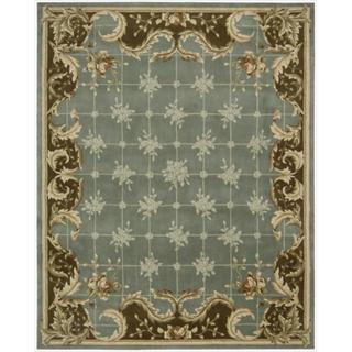 Nourison Hand-tufted Julian Light Blue Wool Rug (7'6 x 9'6)