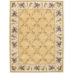 Nourison Hand-tufted Julian Yellow Wool Rug (8' x 11')