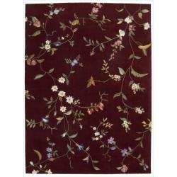 Nourison Hand-tufted Julianl Ruby Rug (8' x 11')