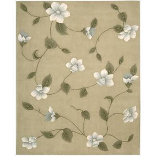 Nourison Hand-tufted Julian Light Gold Wool Rug (7'6 x 9'6)