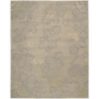 Nourison Hand-tufted Julian Grey Wool Rug (7'6 x 9'6)