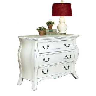 The Regency White Bombe Chest