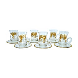 Fabulous Three Star 6-piece 14k Gold Demitasse Set