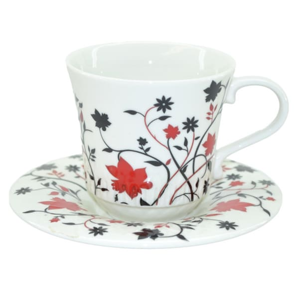 Fabulous Three Star Red Decorative Coffee Set
