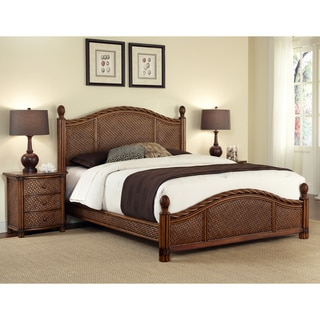 Marco Island Refined Cinnamon King-size Bed and Night Stand