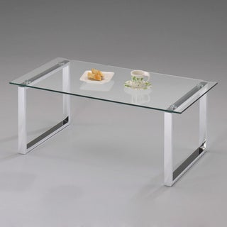 K&B Chrome-finished Cocktail Table