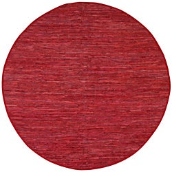 Hand Woven Matador Red Leather (8 x 8 Round)