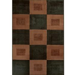 Illusions Woven Pele Black Rug (8' x 11')