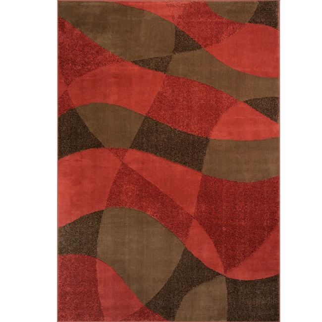 Somette Illusions Woven Snakeskin Lava Rug (8' x 11')