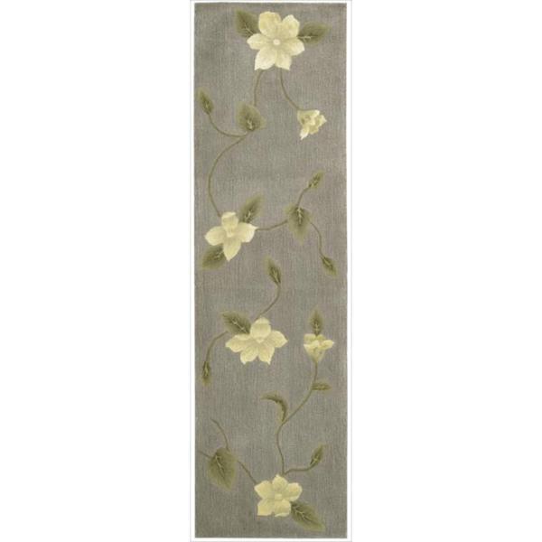 Nourison Hand-tufted Julian Floral Stone Rug (2'3 x 8')