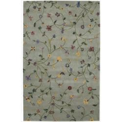 Nourison Hand-tufted Julian Light Green Wool Rug (5'3 x 8'3)