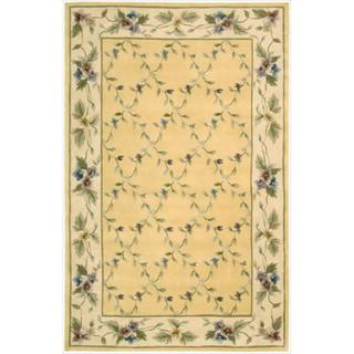 Nourison Hand-tufted Julian Yellow Wool Rug (5'3 x 8'3)