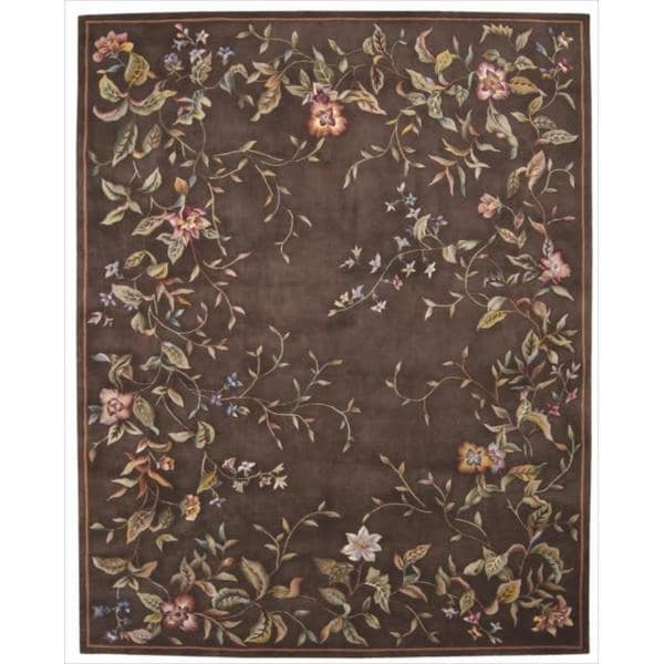 Nourison Hand-tufted Julian Brown Wool Rug (5'3 x 8'3)