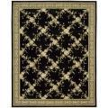 Nourison Hand-tufted Julian Black Wool Rug (5'3 x 8'3)