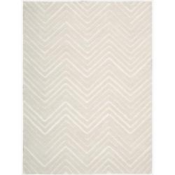 Nourison Joseph Abboud Hand-tufted Modelo Triangle Wave White Rug (4' x 6')