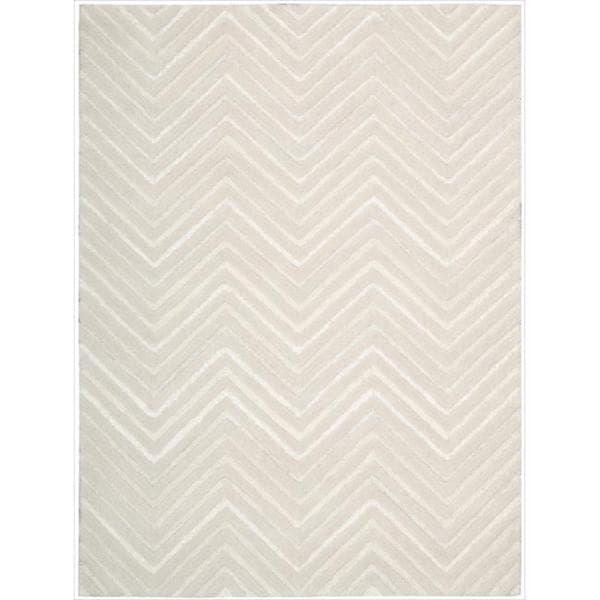 Joseph Abboud Modelo White Area Rug by Nourison (5'6 x 7'5)
