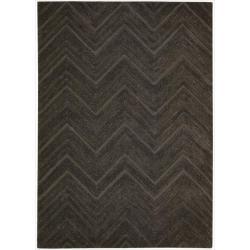 Nourison Joseph Abboud Hand-tufted Modelo Triangle Wave Espresso Rug (7'6 x 9'6)