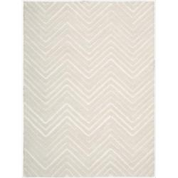 Nourison Joseph Abboud Hand-tufted Modelo Triangle Wave White Rug (8' x 11')