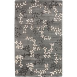 Hand Tufted Beagle Blue Gray New Zealand Wool Rug (2' x 3')