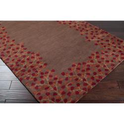 Hand-tufted Rennes Chocolate Wool Rug (2' x 3')