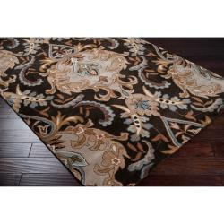 Hand-tufted Ashland Black Wool Rug (2' x 3')
