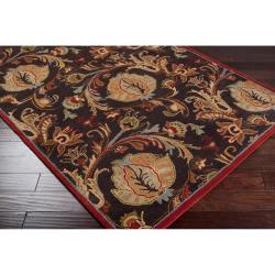 Hand-tufted Augusta Brown Wool Rug (2' x 3')