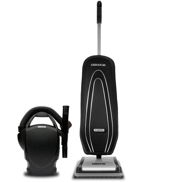 Oreck Graphite Upright & Canister Two Unit Vacuum System