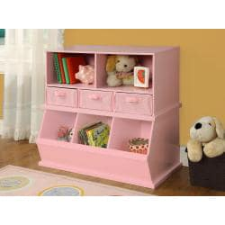 Badger Basket Pink Storage Cubby with Baskets