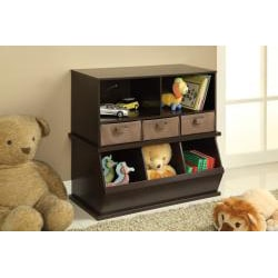 Badger Basket Espresso Storage Cubby with Baskets