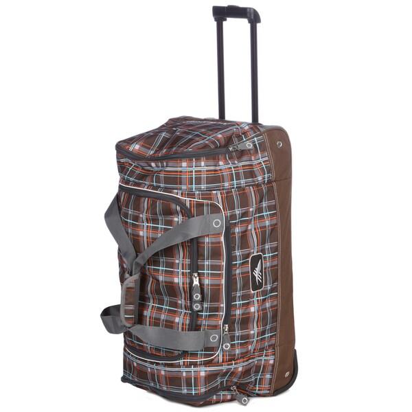 High Siera 28-inch Wheeled Cargo Upright Duffel Bag