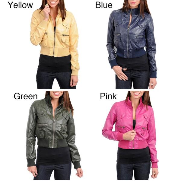 Stanzino Women's Crop Jacket with Pocket Detail
