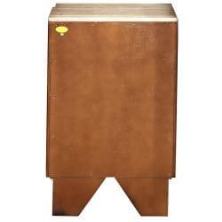 Silkroad Exclusive Cherry Antiqued Brass Bathroom Vanity Side Cabinet Drawer Bank