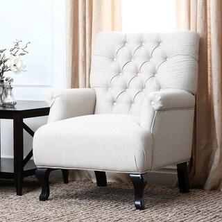 Abbyson Living Tivoli Tufted Fabric Armchair