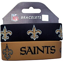 New Orleans Saints Wrist Bands (Set of 2) NFL
