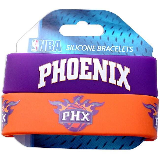 Phoenix Suns Rubber Wrist Bands (Set of 2) NBA